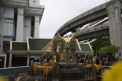 Di sei giorni dopo l'esplosione della bomba nell'intersezione di Ratchaprasong su Au Fotografia Stock