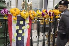 Di sei giorni dopo l'esplosione della bomba nell'intersezione di Ratchaprasong su Au Immagine Stock