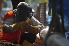Di Semarang de Bumi do gás de Infrastruktur Imagem de Stock Royalty Free