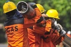 Di Semarang de Bumi do gás de Infrastruktur Fotos de Stock Royalty Free