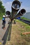 Di Semarang de Bumi do gás de Infrastruktur Foto de Stock