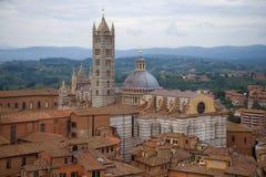 Di Siena Cathedral, jour nuageux de Duomo de septembre Sienne, Italie photos stock