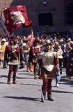 Di Siena de Palio - em julho de 2003 Imagens de Stock