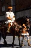 Di Siena de Palio - em julho de 2003 Foto de Stock Royalty Free