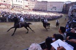 Di Sienne de Palio - juillet 2003 Photo stock
