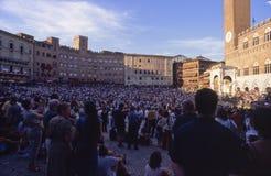 Di Sienne de Palio - juillet 2003 Image stock