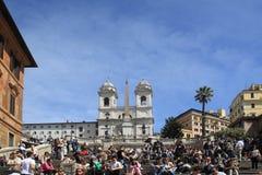罗马广场di Spagna 库存照片