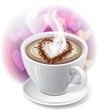 ¡ Di Ð in su di caffè Fotografia Stock Libera da Diritti