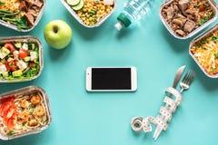 Di?t-Plan und Mahlzeiten stockfoto