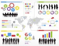Di Team Teamwork Global Concept di statistiche gente di affari illustrazione di stock