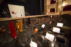 Di teatro da ópera de San Carlo de Teatro, Nápoles Fotografia de Stock