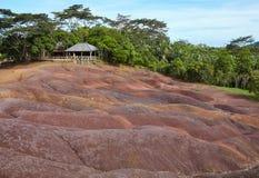 di terra colorata Multi, Mauritius Immagini Stock