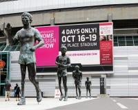 Di Terry Fox della statua dell'esterno stadio BC Immagine Stock Libera da Diritti