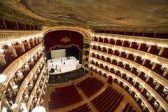 Di théatre de l'opéra de San Carlo, Naples de Teatro Photographie stock libre de droits