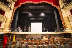 Di théatre de l'opéra de San Carlo, Naples de Teatro Photographie stock