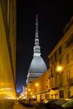 Di Torino di Antonelliana della talpa di notte Fotografia Stock Libera da Diritti