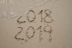 2018/2019 di transizione - vigilia dei nuovi anni immagine stock