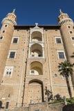 Di Urbino van Palazzoducale Stock Afbeeldingen