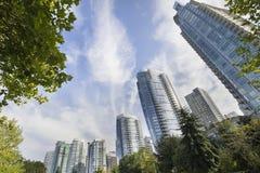 Di Vancouver condomini del centro di lungomare BC Fotografia Stock Libera da Diritti