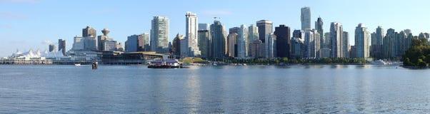 Di Vancouver panorama dell'orizzonte BC, Canada. Immagini Stock Libere da Diritti