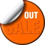 Di vendita decalcomania fuori fotografia stock