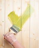Di verde segno di spunta sì Fotografie Stock Libere da Diritti