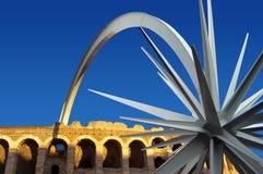 Di Verona da arena com estrela imagem de stock royalty free