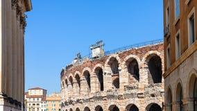 Di Verona Roman Amphitheatre antigo da arena fotos de stock