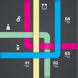 Di vettore modello colorfully Labyrint - colorfully bande Sommario Immagini Stock Libere da Diritti