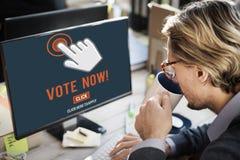 Di voto elezione ora che vota concetto politico fotografia stock