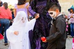 Dia的de los Muertos人们在墨西哥 图库摄影