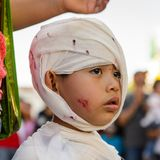 Dia的de los Muertos人们在墨西哥 免版税库存照片