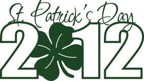 Dia 2012 do St. Patricks ilustração royalty free