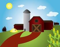 Dia agradável na exploração agrícola Ilustração Royalty Free