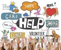 Dia aiuto donano la carità di Walfare donano il concetto Fotografia Stock Libera da Diritti