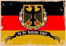 Dia alemão da unidade Imagem de Stock Royalty Free