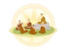 Dia antes do budista emprestado ilustração do vetor
