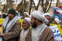 Dia anual da revolução em Esfahan, Irã Foto de Stock