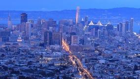 Dia ao timelapse da noite de San Francisco 4K filme
