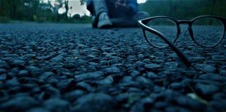 Dia bonito das estradas de vidro do toque foto de stock