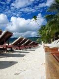 Dia bonito em um recurso tropical fotos de stock royalty free