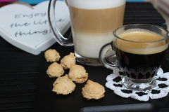 Dia bonito, hora para o café, tempo de mola, dia de mães, cores românticas, Valentim Foto de Stock