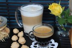Dia bonito, hora para o café, tempo de mola, dia de mães, cores românticas, Valentim Fotos de Stock