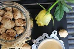 Dia bonito, hora para o café, tempo de mola, dia de mães, cores românticas, Valentim Imagem de Stock