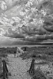 Dia celestial adiante na praia para minha família Imagens de Stock