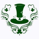 Dia, chapéu e trevo do ` s de St Patrick ilustração do vetor