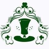 Dia, chapéu e trevo do ` s de St Patrick ilustração stock