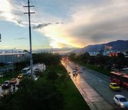 Dia chuvoso Colômbia Fotografia de Stock