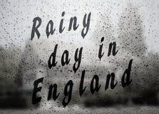 Dia chuvoso em Inglaterra fotografia de stock