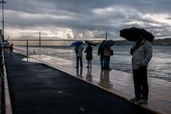 Dia chuvoso no porto Foto de Stock Royalty Free